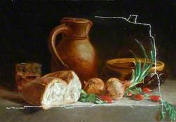 Still Life with Bread and Onions