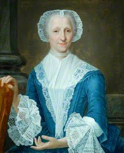 Portrait of a Lady in a Blue Dress
