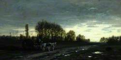 Landscape with a Farm Waggon, Sunset