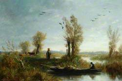 Landscape, the Banks of a Canal