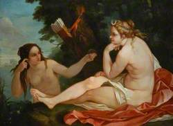 Diana with Nymph, Bathing
