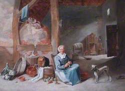 Interior, Woman Cleaning Vegetables