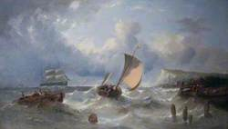 Boats in a Squall off a Coastline