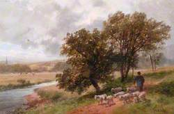 Landscape with Shepherd and Sheep