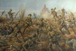 Attack of the 2nd Battalion, Durham Light Infantry, at Hooge, Germany, 9 August 1915