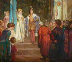 The Presentation by King James III and Queen Margaret of the Banner Known as the Blue Blanket to the Craftsmen in the Year 1482