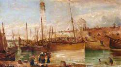 Sale of Bait: The Arrival of the Mussel Boats, Newhaven