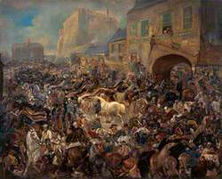The Horse Fair in the Grassmarket, Edinburgh