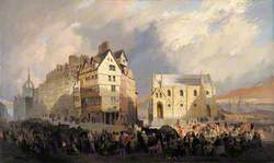 View of the Lawnmarket, Edinburgh