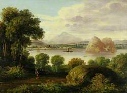 View of the Clyde and Dumbarton Rock