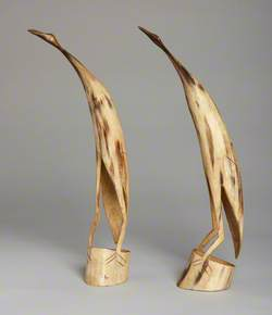 Two Carved Birds