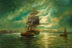 A Tug Towing a Sailing Boat