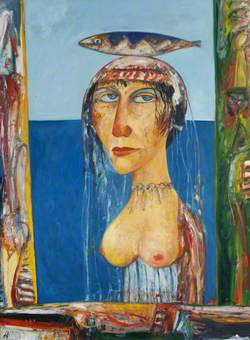 Woman with Fish on Head