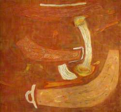 Composition in Orange with Organic Forms