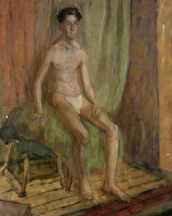 Male Nude Seated