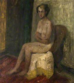 Sitting Nude Woman