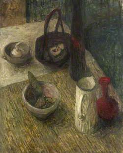 Still Life with Bottles and Bowls