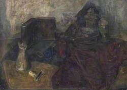 Dark Still Life with Bowl and Ladle