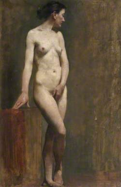 Standing Female Nude in 'Venus Pudica' Pose