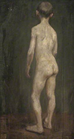 Back of Standing Nude Boy