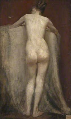 Back of Standing Female Nude