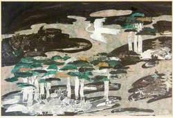 Crane and Trees