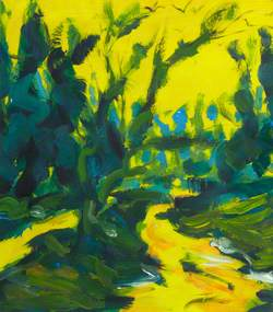 Green Trees against Yellow