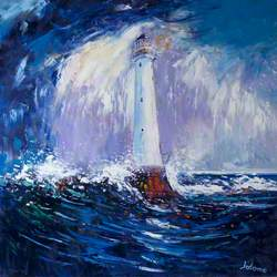 Rain Squall over the Bell Rock Lighthouse