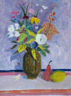 Flowers with Red Pear