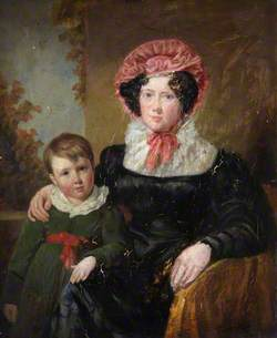 Mrs H. J. Thomson and Her Son