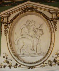 Plaster Relief with Bacchus and Ariadne