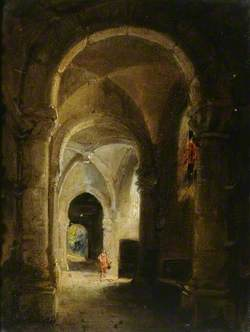 Interior of a Cloister with Figures