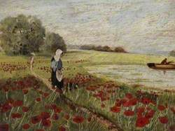 Lady in a Poppy Field