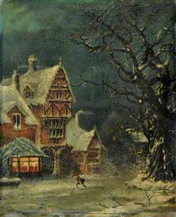 Timbered House in Winter*