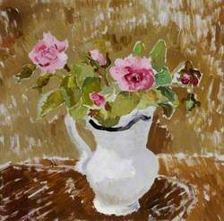Roses in a White Jug