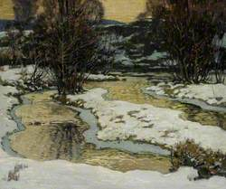 Winter River Scene