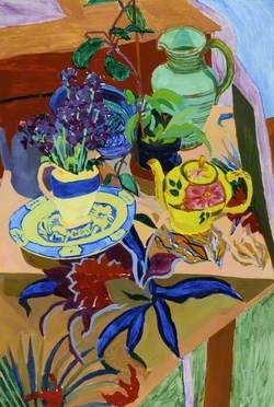 The Yellow Teapot with Night-Scented Stock