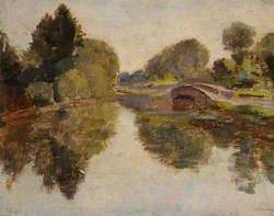 River Scene with a Bridge
