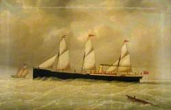 The Hull Steamship 'Edith' off Spurn, East Riding of Yorkshire