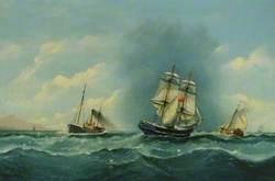 Hull Trawler, Sailing Brig and Dutch Herring Buss