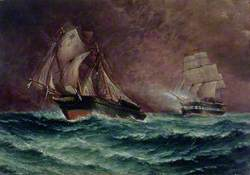 Chased by an English Frigate