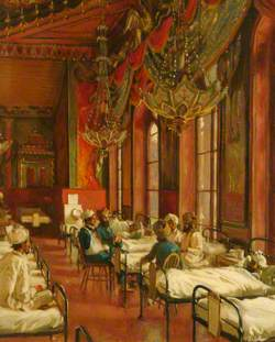 Music Room of the Royal Pavilion as a Hospital for Indian Soldiers