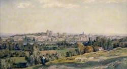 View of Avignon from Villeneuve, France