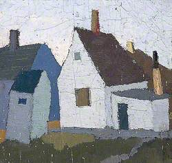 Painting of a Group of Buildings