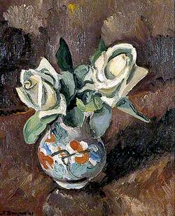Still Life of White Roses