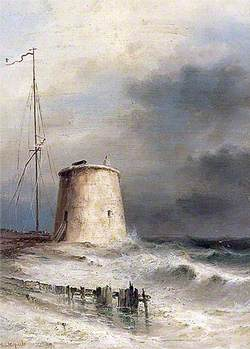Martello Tower at Bulverhythe, East Sussex