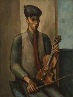 John Minton with a Violin