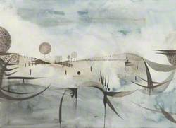 Blue and Grey Landscape