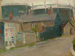 Lewes Gasworks from South Street