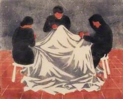 Women Sewing a Shroud